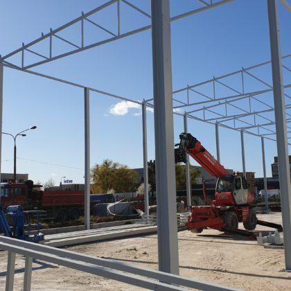 Projekt oraz wykonanie konstrukcji stalowej hali magazynowej