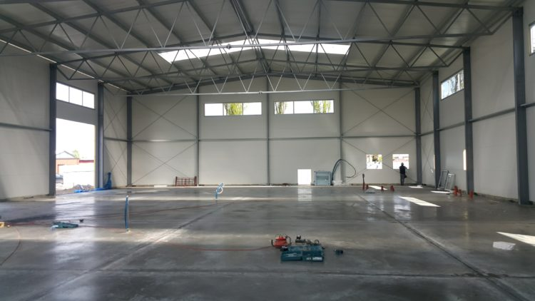 Prefabrykacja oraz montaż hali produkcyjnej