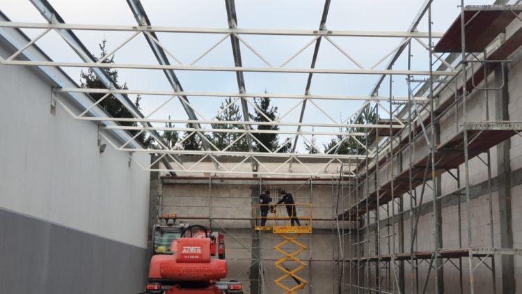 Prefabrykacja oraz montaż konstrukcji stalowej hali magazynowej oraz wiaty