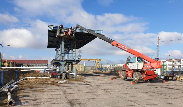 Demontaż wiaty oraz terminala paliwowego